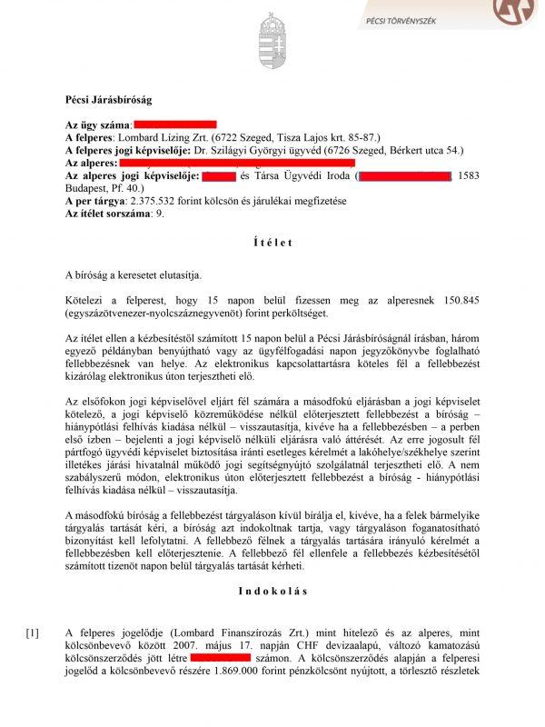 per Pécsi tsz. 1, 7, 13 old (1) (1) (1)-1